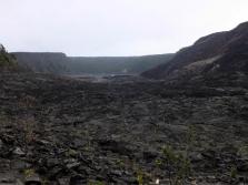 Le Kilauea Iki trail: la sortie est en face