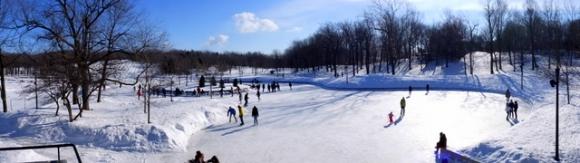La patinoire du Mont Royal, les glissades et where's Alix?