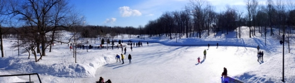 La patinoire du Mont Royal, les glissades et where's Alix?